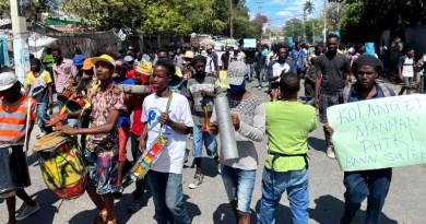 Haiti: massive protests on February against President Jovenel Moïse (photo credit: Danny Shaw/COHA)