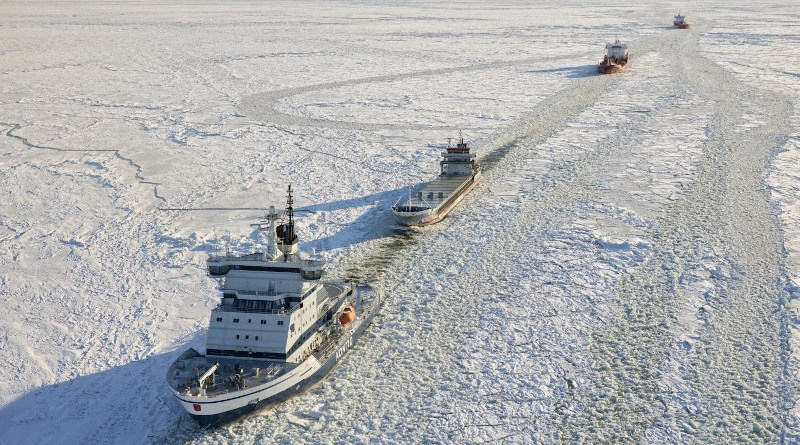 The Polar Ship Category of a ship has a crucial impact on the probability of besetting. Ships of a lower category are most at risk, and many of them become beset in ice each year. CREDIT Photo: Arctia Ltd