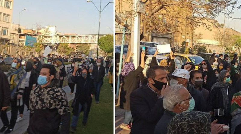Iranian protesters against the Iran-China 25-year agreement. Photo Credit: Iran News Wire