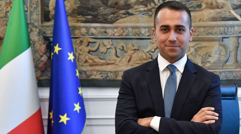 Italy's Foreign Minister Luigi Di Maio. Photo Credit: Italian Foreign Ministry