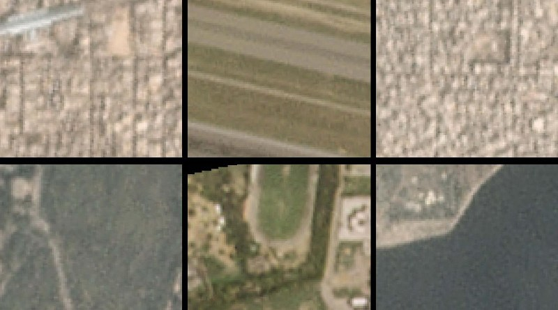 A new AI algorithm picked out these city-block-sized satellite images as local hotspots (top) and cool spots (bottom) for air pollution in Beijing. CREDIT Tongshu Zheng, Duke University