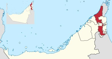 Location of Ras Al Khaimah in the UAE. Credit: Wikipedia Commons