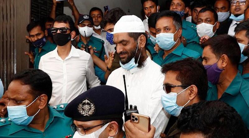 Mamunul Haque, joint secretary-general of Hefazat-e-Islam, arrives at a court in Dhaka, April 19, 2021. Photo Credit: BenarNews