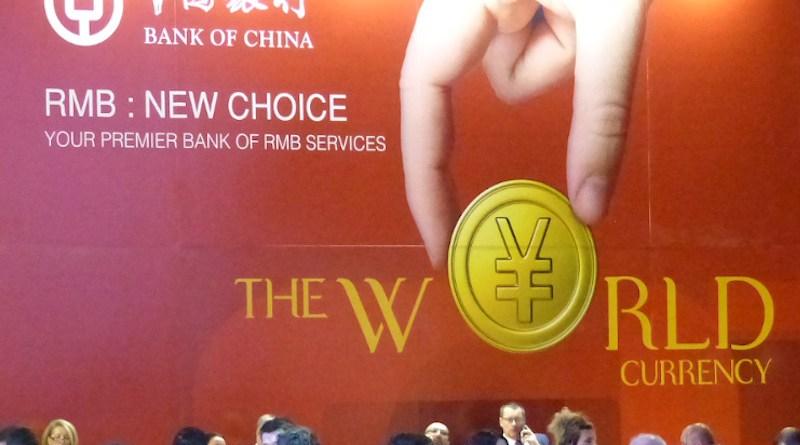 Renminbi (yuan) promotion at the China-CEEC 2017 summit. Photo Credit: Elekes Andor, Wikipedia Commons promotion at the China-CEEC 2017 summit