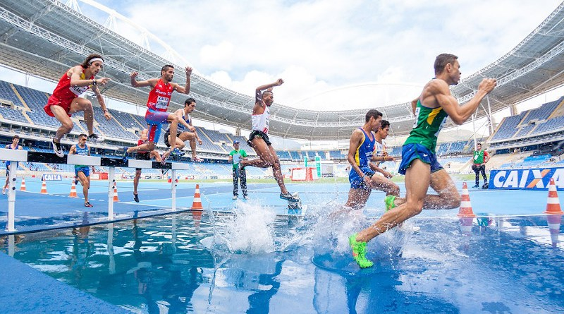 Race Run Sports Action Athletes Competition Hurdles Men People