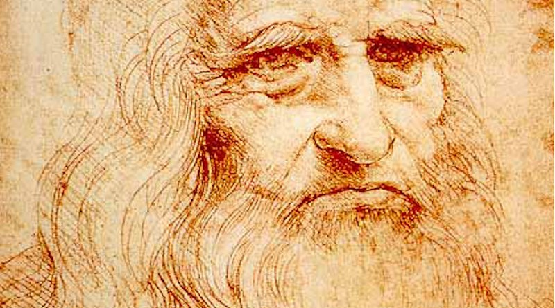 Presumed self-portrait of Leonardo (c. 1510) at the Royal Library of Turin, Italy. Credit: Wikipedia Commons
