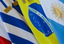 Flags of Mercosur members, Paraguay, Uruguay, Brazil, and Argentina. Photo Credit: ABr, Isac Nobrega/PR