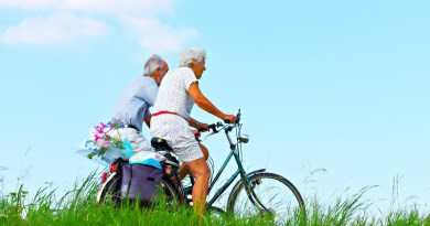 Person Man Woman People Couple Elderly Cycling