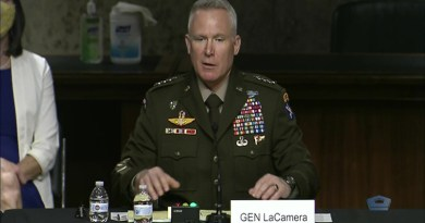 Army Gen. Paul J. LaCamera testifies at a Senate Armed Services Committee hearing. Photo Credit: DoD video screenshot