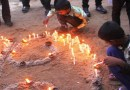 Children light candles in Mullaitivu, where thousands were killed in the final days of the 26-year Sri Lankan Civil War that ended in 2009. (Photo: UCA News)