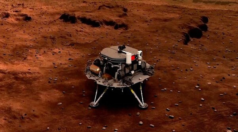 China's Zhurong rover on Mars. Photo Credit: Mehr News Agency
