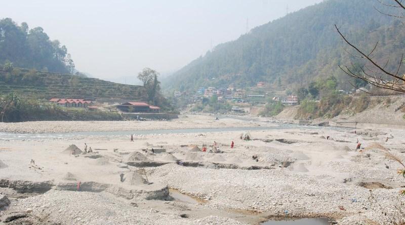 Sand pit in Sunkoshi near Kathmandu, Nepal CREDIT Bibek Raj Shrestha