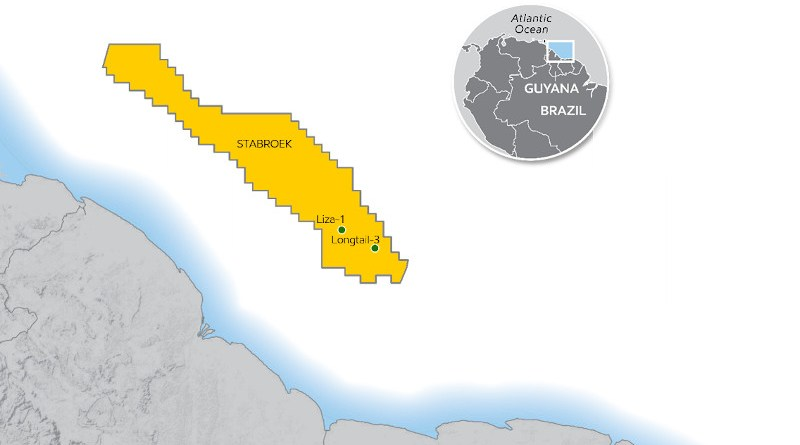 Location of Longtail-3 offshore Guyana. Credit: ExxonMobil