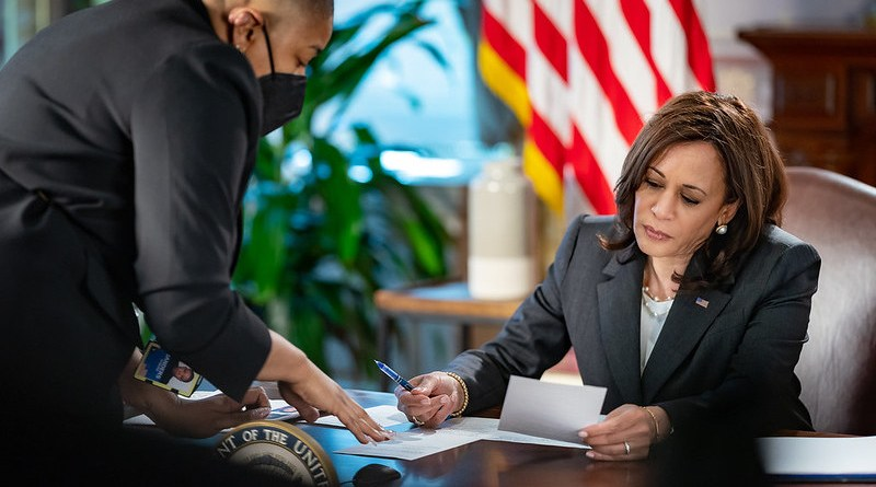 File photo of US Vice President Kamala Harris. (Official White House Photo by Carlos Fyfe)