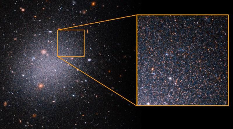 NGC1052-DF2 CREDIT NASA, ESA, Z. Shen and P. van Dokkum (Yale University), and S. Danieli (Institute for Advanced Study)