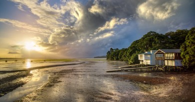 Beach House Shore Coast Wooden Boat Shed Hut