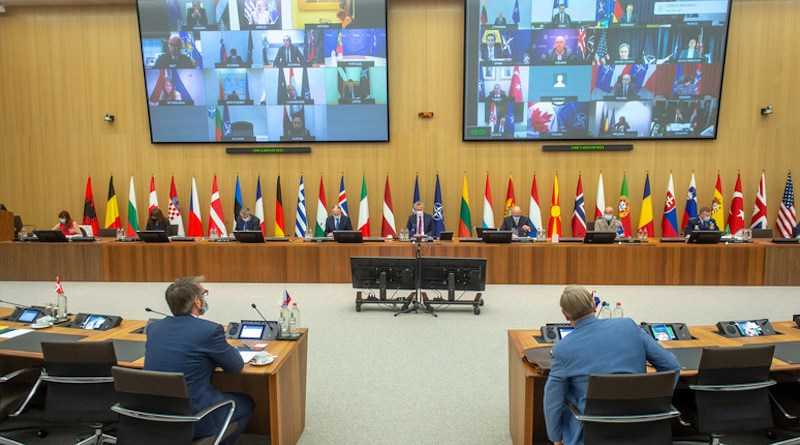 NATO Foreign Ministers hold virtual meeting. Photo Credit: NATO
