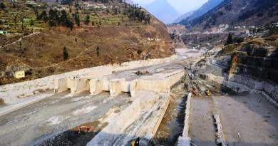Destroyed Tapovan Vishnugad hydroelectric plant after devastating debris flow of Feb 7, 2021. CREDIT (Irfan Rashid, Department of Geoinformatics, University of Kashmir)