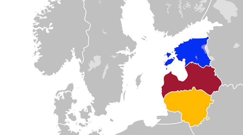Baltic States of Estonia, Latvia and Lithuania in Northern Europe. Credit: Wikipedia Commons