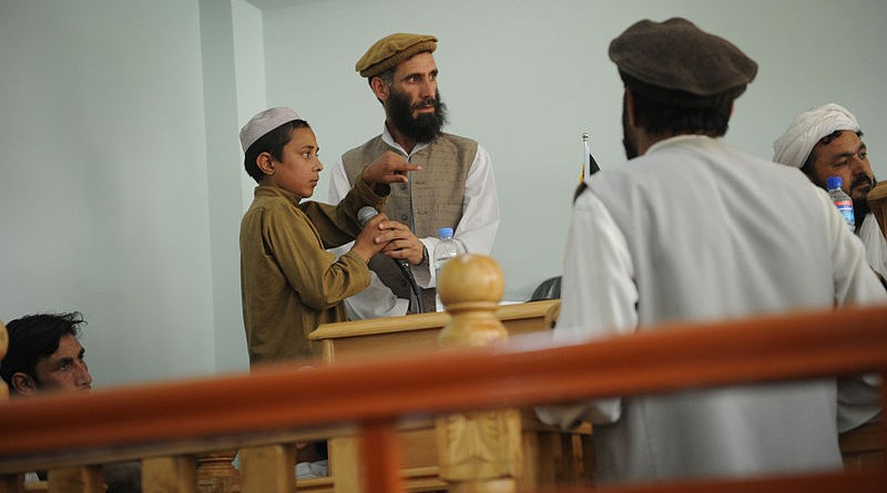 A young plaintiff testifying during a public criminal trial in 2011 at a courthouse in Asadabad, Afghanistan. Photo Credit: S.K. Vemmer, employee of the U.S. State Department, Wikipedia Commons