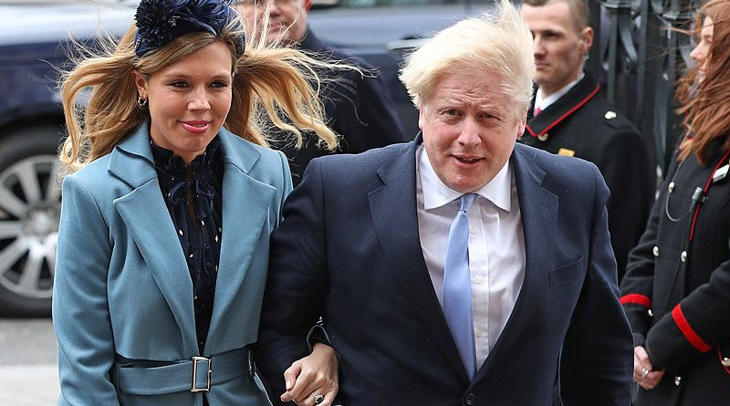 File photo of Boris Johnson and Carrie Symonds. Photo Credit: 10 Downing Street, Wikimedia Commons