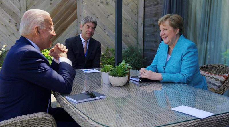 US President Joe Biden with Germany's Chancellor Angela Merkel. Photo Credit: The White House