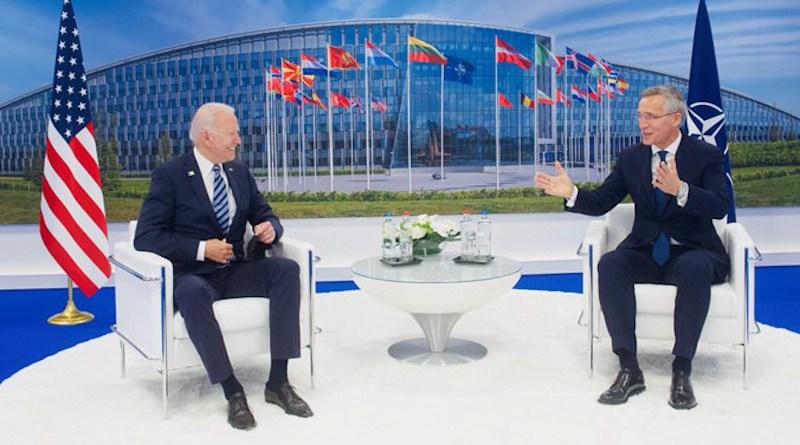 NATO Secretary General Jens Stoltenberg with US President Joe Biden. Photo Credit: NATO