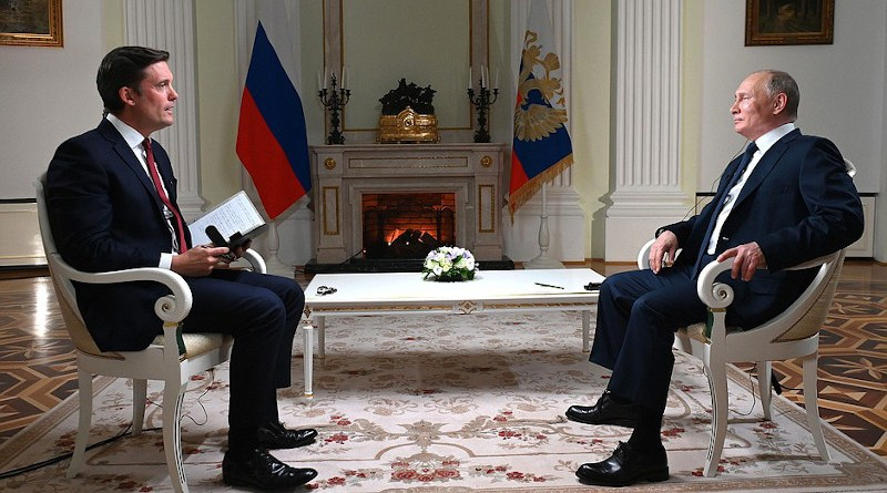 Russia's President Vladimir Putin during interview with NBC correspondent Keir Simmons. Photo Credit: Kremlin.ru