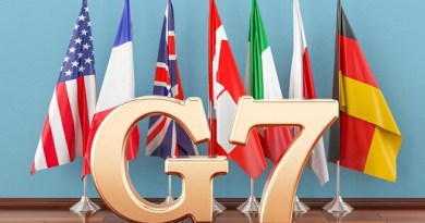 Flags of G-7 G7. Photo Credit: Mehr News Agency