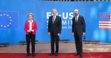 European Commission President Ursula Gertrud von der Leyen with US President Joe Biden and Charles Yves Jean Ghislaine Michel, President of the European Council. Photo Credit: The White House