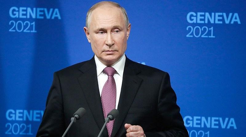 Russia's President Vladimir Putin at Geneva Summit news conference. Photo Credit: Kremlin.ru