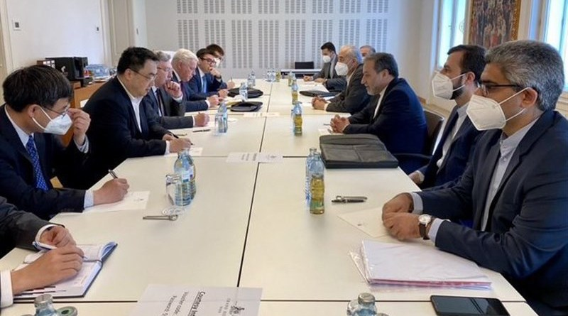 The heads of delegations from Iran, Russia and China held a meeting in Austria to discuss JCPOA. Photo Credit: Tasnim News Agency