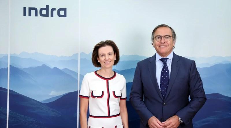 Cristina Ruiz and Ignacio Mataix, Chief Executive Officers of Indra. Photo Credit: Indra
