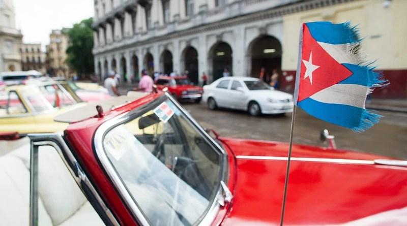 Car Cuba Flag Old Havana Vintage Retro Travel