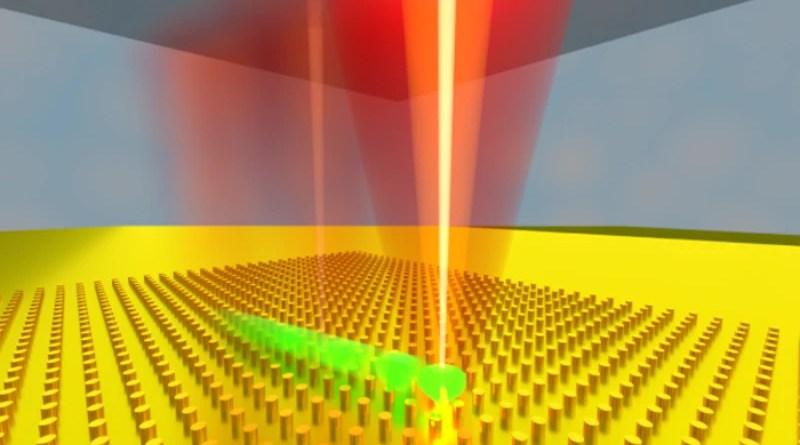 Low frequency electrothermoplasmonic tweezer device rendering CREDIT: Justus Ndukaife