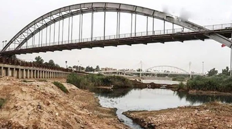 A dried up river in Iran's Khuzestan province. Photo Credit: Iran News Wire