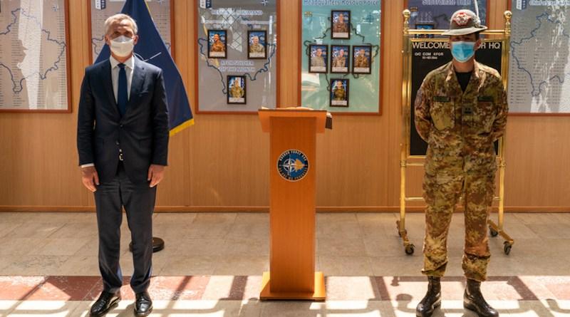 NATO Secretary General Jens Stoltenberg with KFOR Commander Major General Franco Federici. Photo Credit: NATO