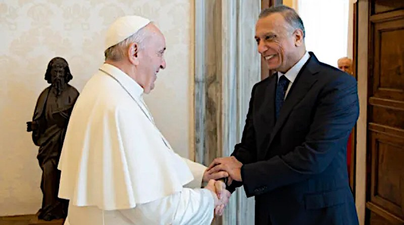 Pope Francis meets with Iraqi Prime Minister Mustafa Al-Kadhimi/ Vatican Media.