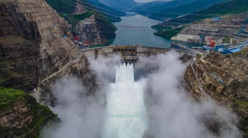 China's Baihetan Hydropower Station Dam. Photo Credit: Wang Guanghao and Jia Xianzheng, China Three Gorges Corp