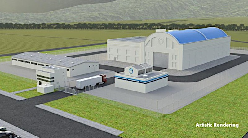Artistic rendering of the Hermes low-power demonstration reactor (Image: Kairos Power)