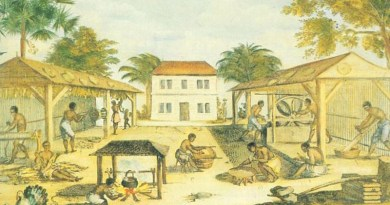 Slaves processing tobacco in 17th-century Virginia. Credit: Author unknown, Wikipedia Commons