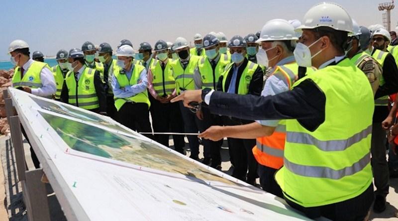 The delegation at the El Dabaa site (Image: Rosatom)