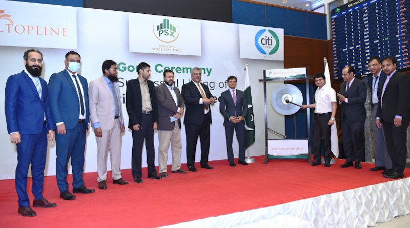 Pakistan stock exchange PDX hold gong ceremony to mark listing of Citi Pharma (Photo supplied)
