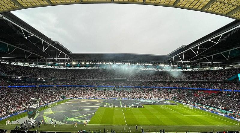 Interior of Wembley before the UEFA Euro 2020 final. Photo Credit: Presidenza Presidenza della Repubblica Repubblica