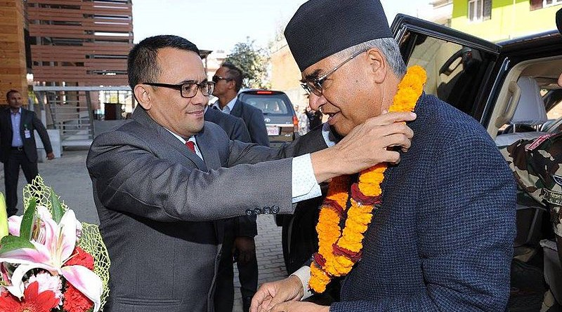 Nepal's Sher Bahadur Deuba arriving at Singha Durbar after being appointed prime minister for the fifth time on 13 July 2021. Photo Credit: Dhuchkedhuckhe99889, Wikipedia Commons