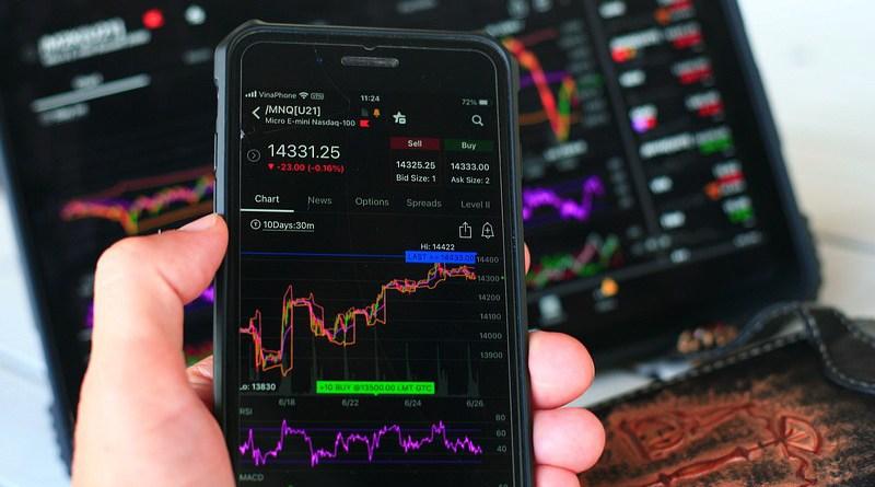 Stock Market Chart Smartphone Finance Investment