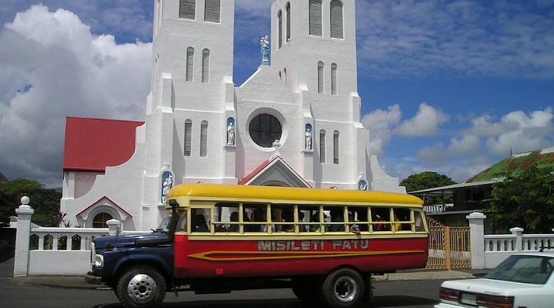 Bus Church Samoa Exotic South Sea