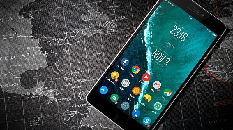 Smartphone Phone Android Apps World Map Applications