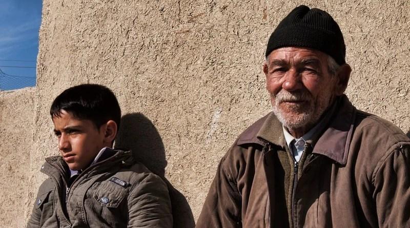 Boy Man Elderly Grandfather Iran Isfahan Farmer Grandson People