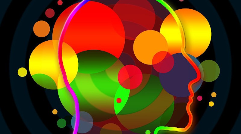 Psychological Background Bokeh Light Circle Points Abstract